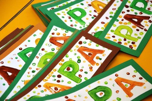 A pourrait faire une belle couverture de carte pour la - Carte fete des peres maternelle ...