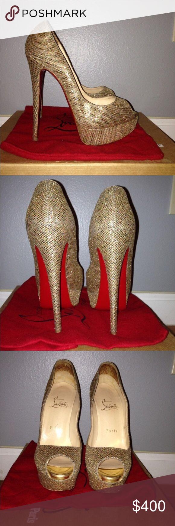 GORGEOUS GOLD CHRISTIAN LOUBOUTIN PUMPS SZ 6.5 GORGEOUS GOLD CHRISTIAN LOUBOUTIN PUMPS SZ 37 (but fits like a 6.5) 100% Authentic! Comes with dust bag Christian Louboutin Shoes Platforms