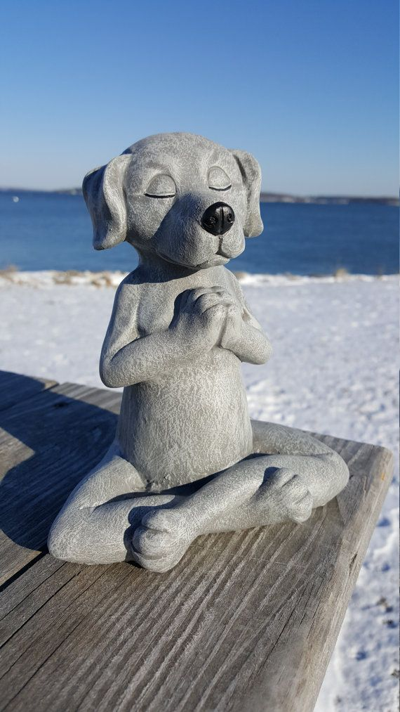 Dog Buddha Meditating Dog Statue Yoga Dog Garden by FireKDesigns