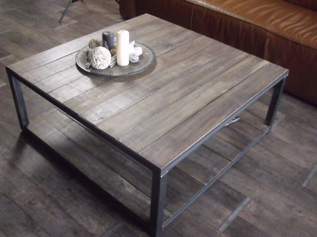 9 best Table basse images on Pinterest Coffee tables, Industrial