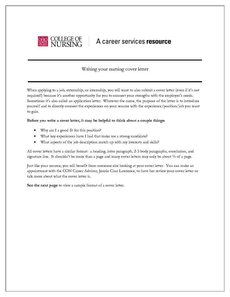 Best 25 Nursing Cover Letter Ideas On Pinterest Employment Cover Letter Job Info And 2 Letter