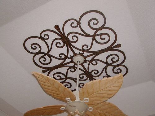 Faux Wrought Iron Custom Ceiling Medallion. | This custom ce… | Flickr
