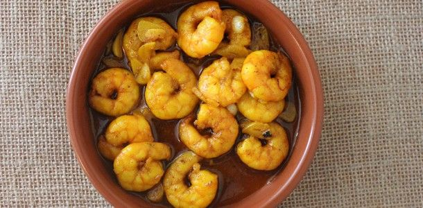 Gambas Pil Pil is a famous tapas of prawns served in a hot, sizzling ...