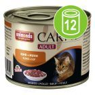 Animonda Carny Adult Voordeelpakket 12 x 200 g, met oa wortelpeterselie of bosbessen