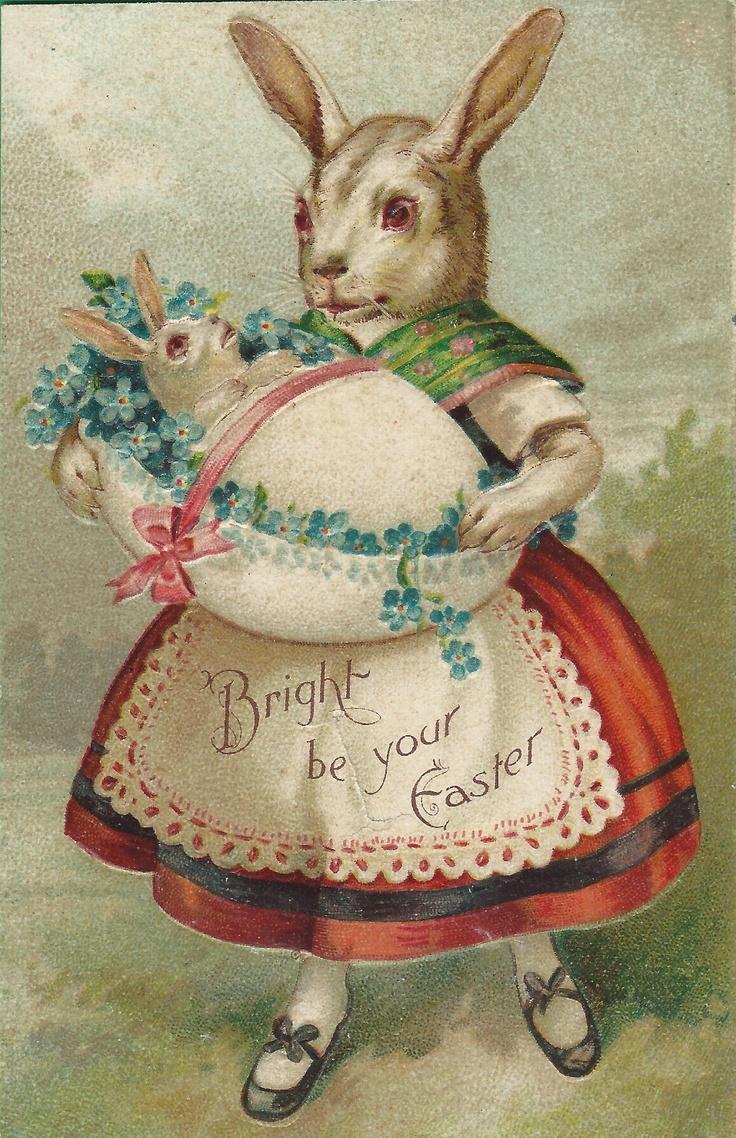 Сделать, винтажные открытки кролики
