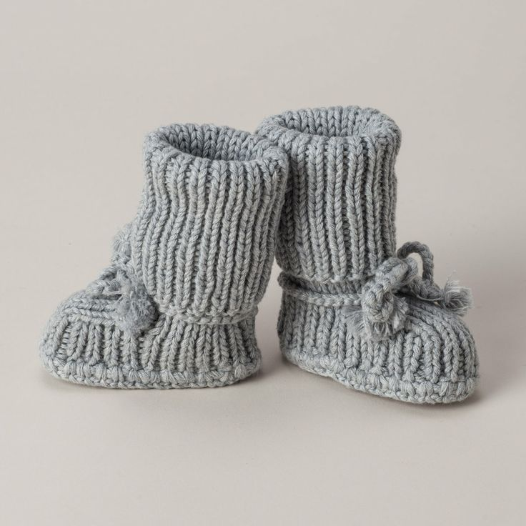 sock booties w/ ties- silver ~ Pink Olive: whimsical gifts for happiness and home