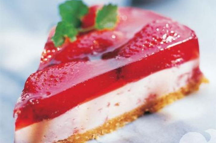 Gluten- og laktosefri ostekake. Artig kakebunn!