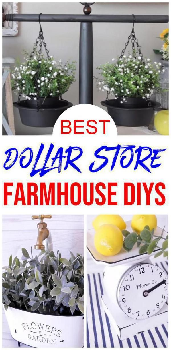 Farmhouse Decor – DIY Dollar Store Farmhouse Decor Ideas & Hacks – Home Decor On A Budget