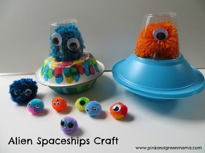 Pink and Green Mama: Escape From Planet Earth DVD Review, Giveaway, and Alien Spaceship Craft!