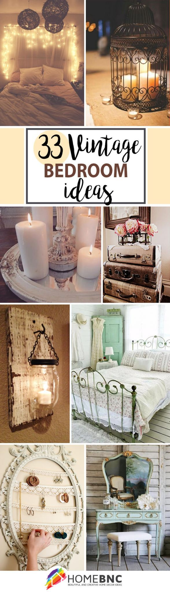 33 vintage bedroom decor ideas to turn your room into a paradise - Bedroom Vintage Ideas