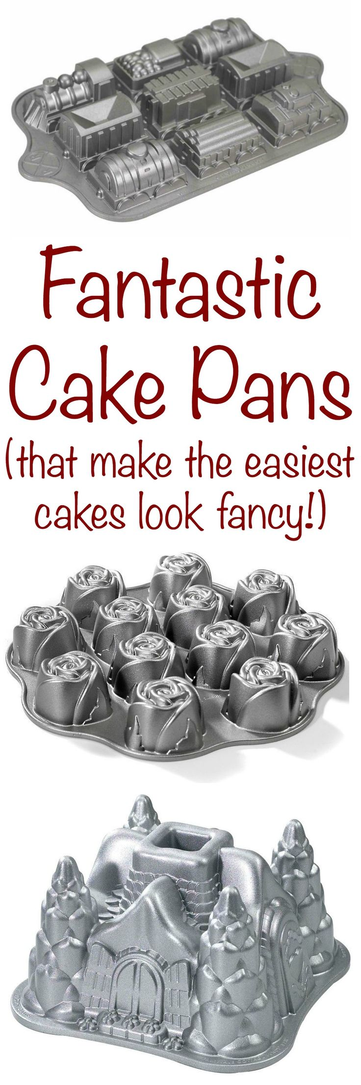 Even the simplest cakes can be dressed up with a fun cake pan. Check out these cake molds for all your baking needs!