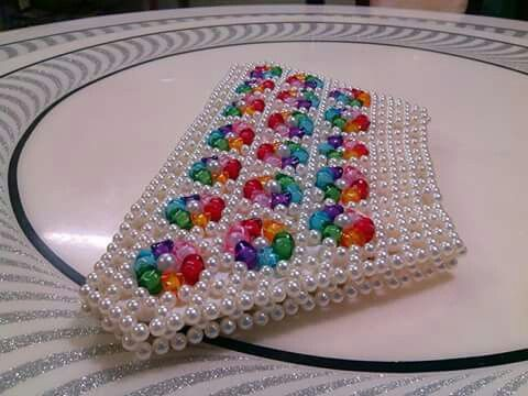 Muticolour bead bag