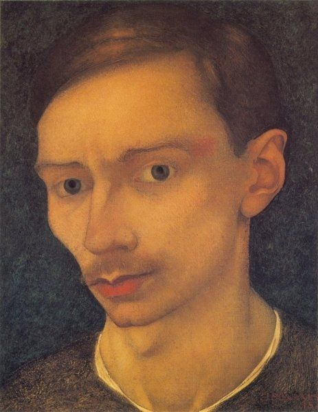 Self portrait 1915 by Jan Mankes 1889-1920 (Holland)