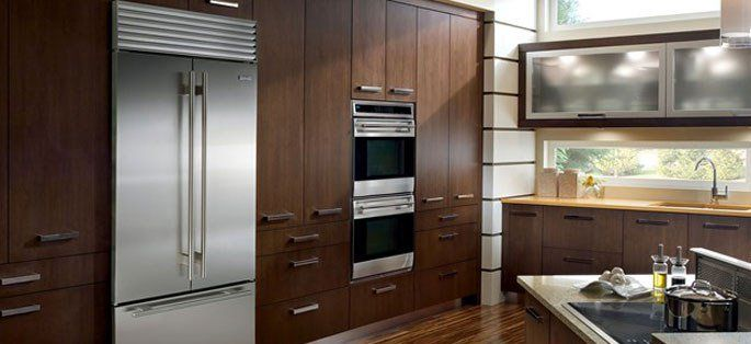Thermador Vs Sub Zero French Door Counter Depth Refrigerators Reviews Ratings Prices Luxury Kitchen Design Kitchen Appliance Packages Best Kitchen Designs