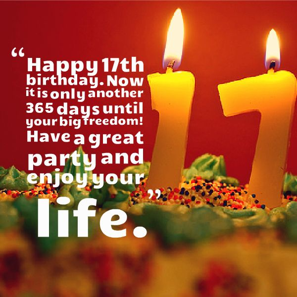 Happy sweet 17 birthday wishes