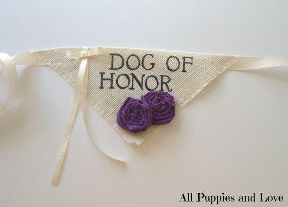 Dog Bandana Dog of Honor Ring Bearer Wedding Collar Girl Flowers on Etsy, $22.00