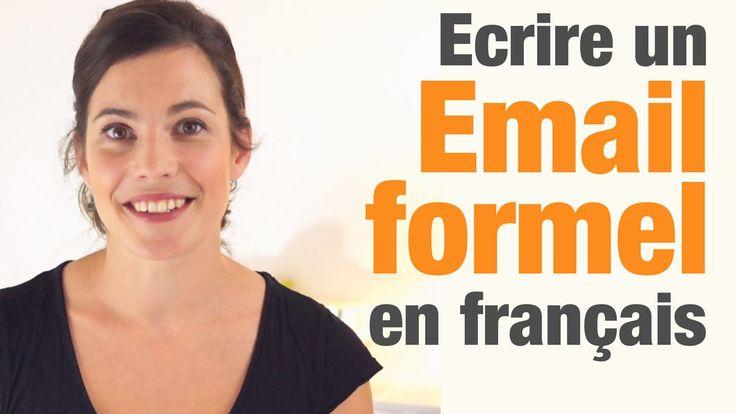 EE - Écrire un courrier électronique formel en français. Vidéo de Parlez-vous FRENCH? sur YouTube