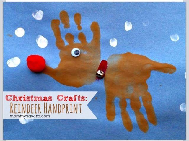 Reindeer handprints