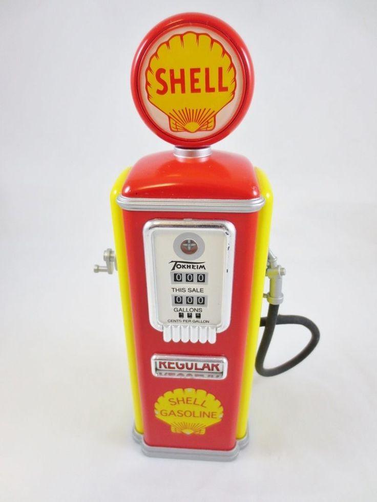 Gear Box Locking Die-Cast Toy Gas Pump Coin Bank, SHELL REGULAR GASOLINE