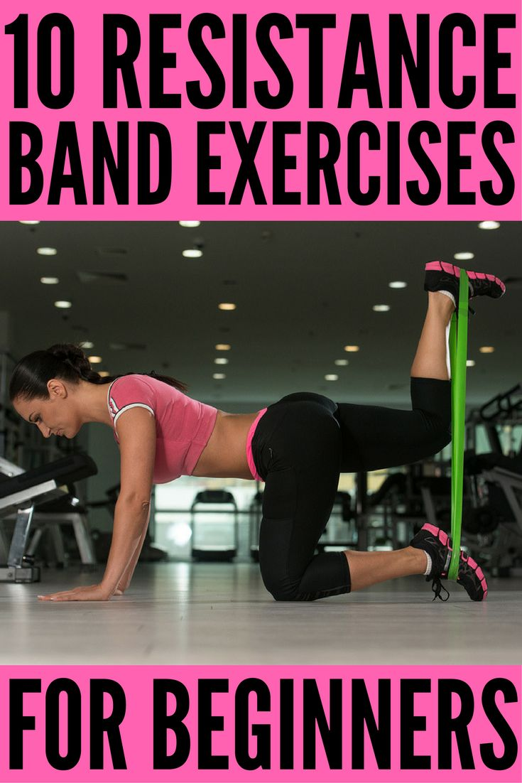 Full Body Workout with Resistance Bands: 10 Exercises to Tighten & Tone   Resistance band exercises offer a great all-in-one workout for glutes, for arms, for legs, for abs, for back, and for thighs that can be done anytime, anywhere. Perfect for weight loss and building muscle, we're sharing 10 workouts for beginners (and beyond!) to help you get back in shape from the comfort of your own home.