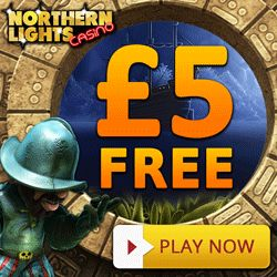 Northern Lights Casino (NetEnt) Is Offering NEW Players £5 FREE On Sign Up. No Usa. Recieve 200% Match On 1st Deposit. Flash/Mobile. Offer Here: http://casinondcentral.myfreeforum.org/about382.html