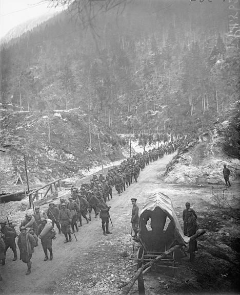 The Battle of Vittorio Veneto was a World War I battle fought from Oct 24 to Nov 3, 1918, between the Italian Army and the Austro-Hungarian forces near Vittorio Veneto. Reinforced by British and French troops, Italy won a decisive victory, causing the collapse of the Austro-Hungarian Army and leading to the end of the war on the Italian Front. (Q 25946) IWM
