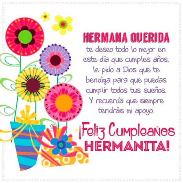 Tarjeta De Cumpleanos Para Hermana Querida Cumpleanos Birthday