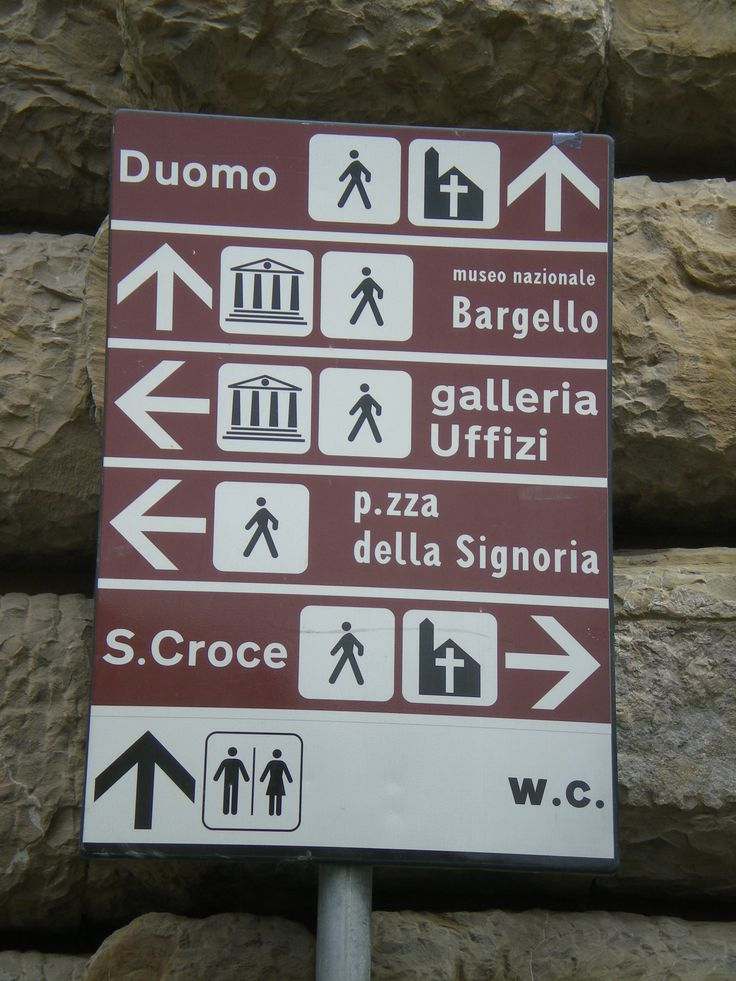 Which way to the Ponte Vecchio? Love the signs.