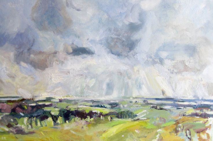 Rainfall Over Goodwood Oil on Canvas 61 x 92 cm £ 1,250  #Art #Paintings #Landscape