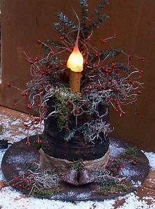 Primitive Christmas Snowman Hat Lamp E-Pattern