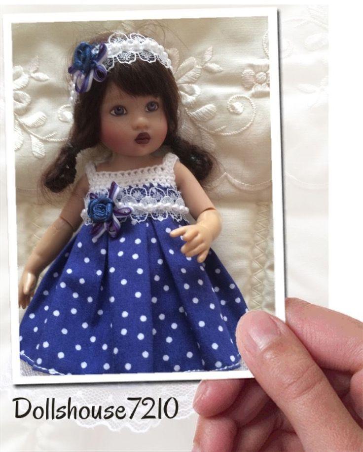 "Crochet&Fabric Combination outfit for 7.5-8"" Kish Riley Helen Kish,Tonner BJD | eBay"