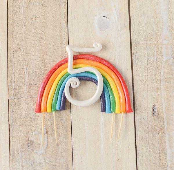 Easy Rainbow Cake Topper Tutorial   TikkiDo.com