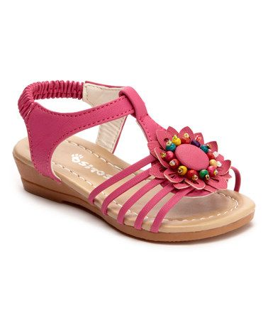 Look what I found on #zulily! Fuchsia Beaded Sandal #zulilyfinds