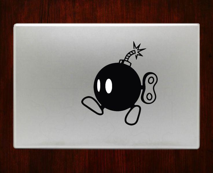 """mario bomb Decal Sticker Vinyl For Macbook Pro Air 13"""" Inch 15"""" Inch 17"""" Inch Decals #supermario #macbookdecal #macbookstickers"""