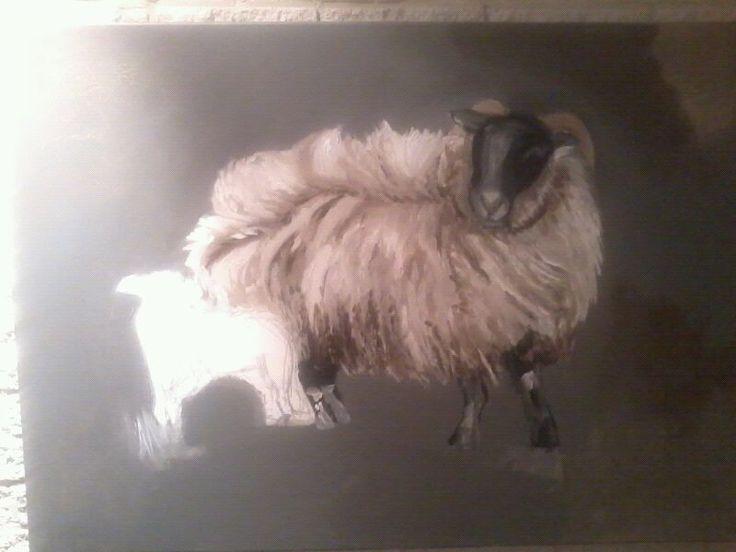 Lauren's sweet lamb painting