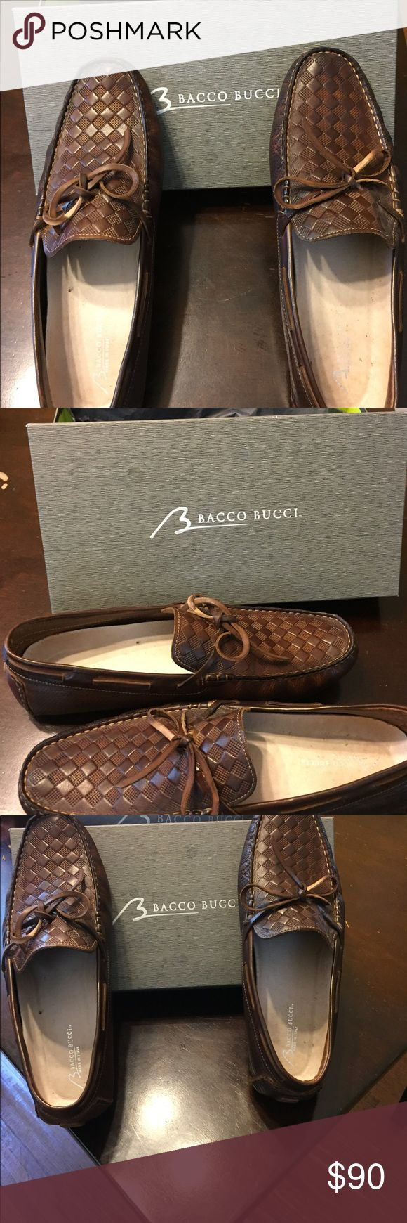Men's Bacco Bucci Size 13 Italian Leather Loafers New Men's Size 13 Brown Italian Leather Loafers by Bacco Bucci. Exquisite design and comfort. Very unique square pattern design on the upper of the shoe. Great for fall, summer or spring. Bacco Bucci Shoes Flats & Loafers