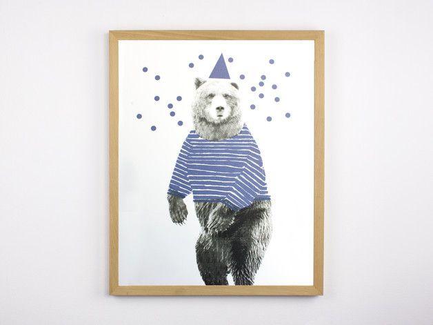 Bild für echte Tanzbären / poster with dancing bear by Morkebla via DaWanda.com