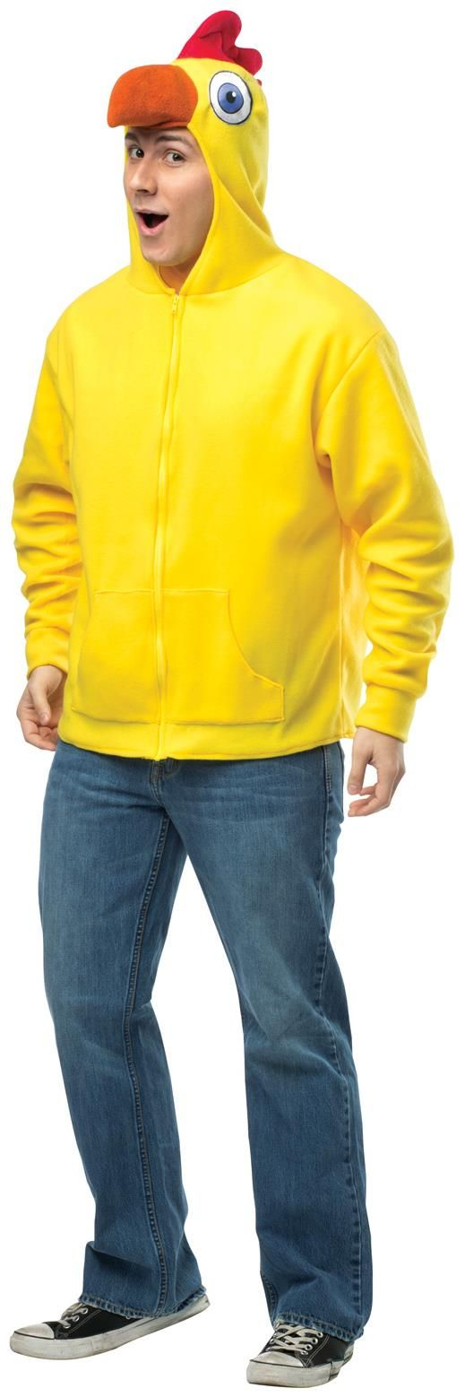 PartyBell.com - Chicken Hoodie Adult #Costume #thanksgiving