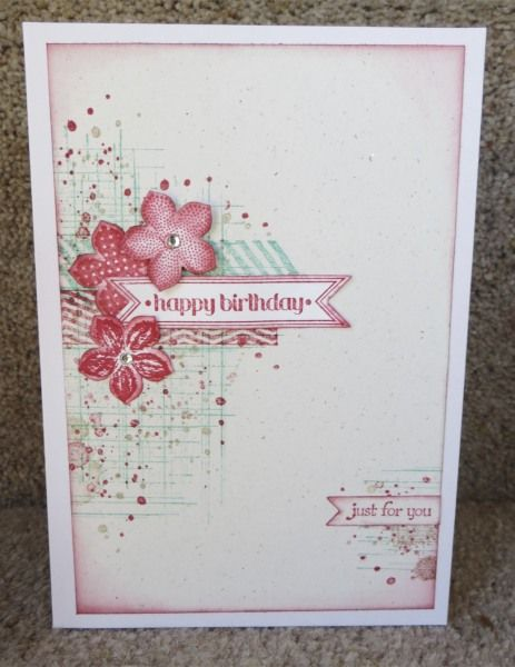 "Cardmaker unknown. Uses stamps from ""Gorgeous Grunge"" set by Stampin' Up."