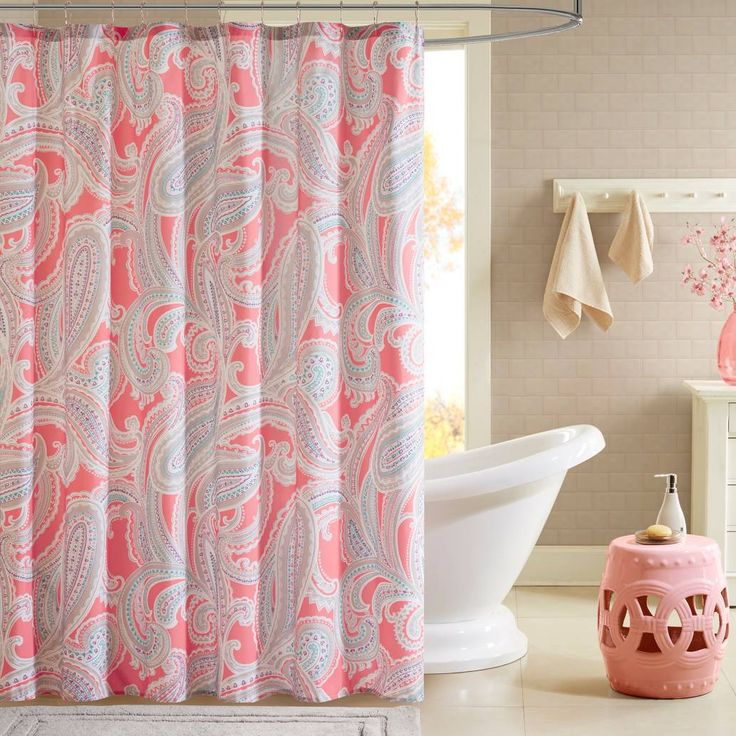 product image for Intelligent Design Paola Printed Shower Curtain in Pink