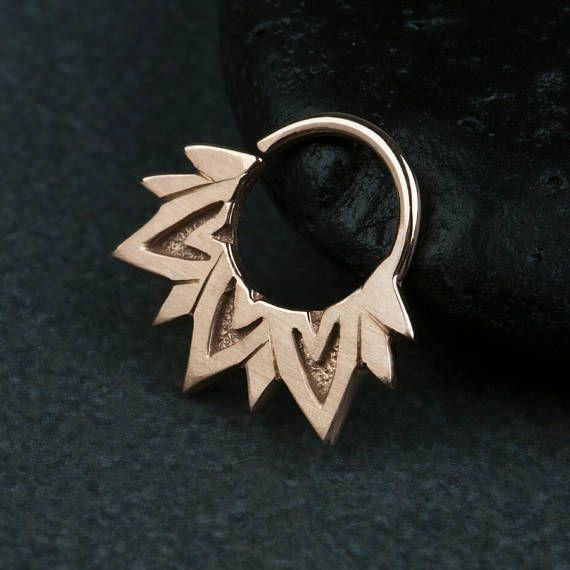 Μύτη Lotus διαφράγματος Ring Ring σώματος Κοσμήματα 925 Στερεά Sterling