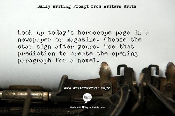 LOVE this prompt. It's so creative!