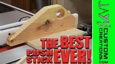 Push sticks are a must for table saw safety. They keep your hands and fingers off the wood to be cut, and away from the spinning blade. You can make your own push stick that will hold your material in place and perform better than any store-bought one.
