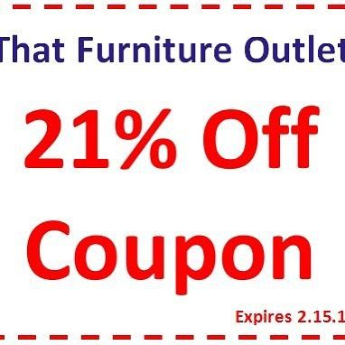 That Furniture Outlet - Minnesota's #1 Furniture Outlet. 21% Off All Purchases Through January 31st. We have exceptionally low everyday prices in a very relaxed shopping atmosphere. http://ift.tt/2bbD6DE #thatfurnitureoutlet  #thatfurniture  High Quality. Terrific Selection. Exceptional Prices.