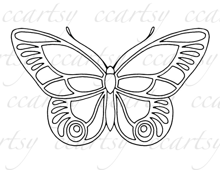 Beautiful butterfly printable coloring page c by ccartsy for Beautiful butterfly coloring pages