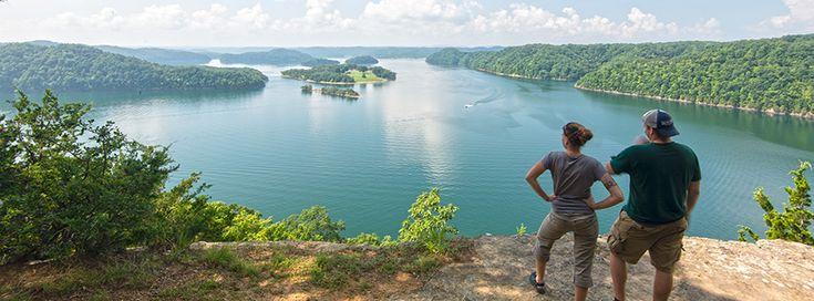The beautiful Dale Hollow Lake in Kentucky