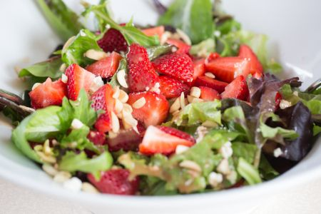 Zone Paleo Diet Strawberry Feta Salad Recipe