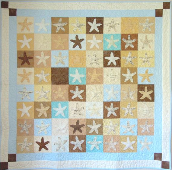 10 best images about Ideas for a beach themed quilt on Pinterest Starfish, Studios and Quilt