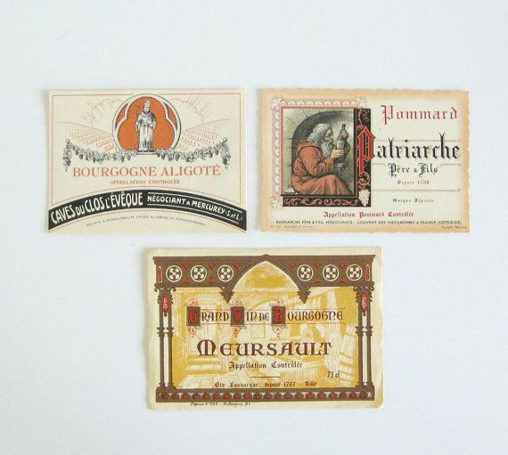 Vintage French Wine Labels | Su-weet | Pinterest