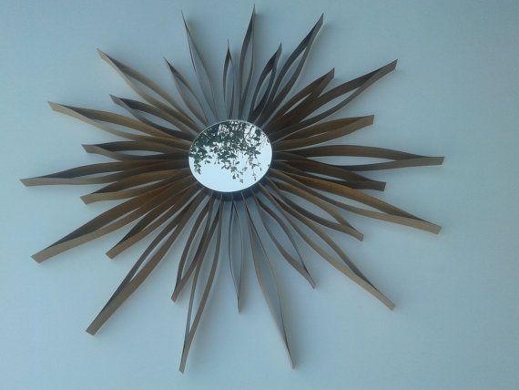 specchio artigianale in legno-mirror wood di lovelymore su Etsy